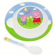 2 - DÍLNÝ PLASTOVÝ  SET PEPPA PIG  baby 85278